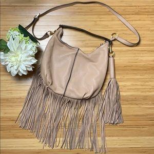 GILI Terracotta Pebble Leather Fringe 💕 Hobo Bag